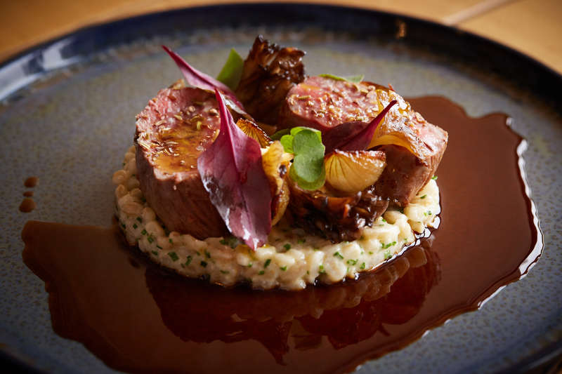 Spiced Scotch Lamb Loin recipe with pearl barley, grelot onions & girolle mushrooms by Jamie Scott - 8