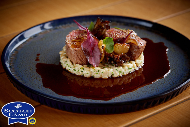 Spiced Scotch Lamb Loin recipe with pearl barley, grelot onions & girolle mushrooms by Jamie Scott - 11