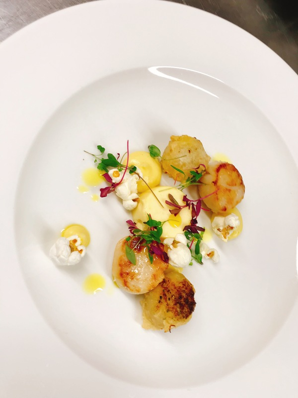 Scallops and crab beignets with textures of corn and lemon oil :ok_hand_tone2:
