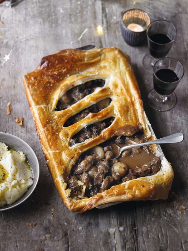 Beef and shallot pie