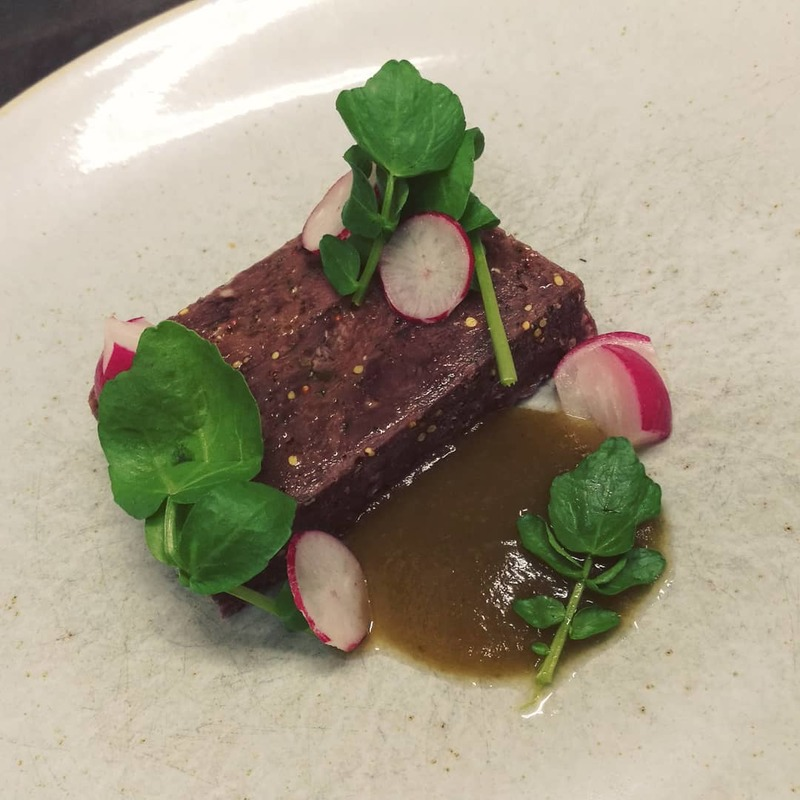 In-House Corned Beef, Gherkin Ketchup, Radish, Watercress