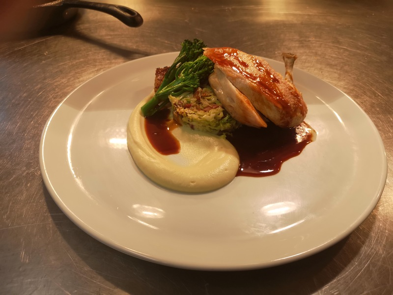 Chicken breast, Koffman cabbage, celeriac puree