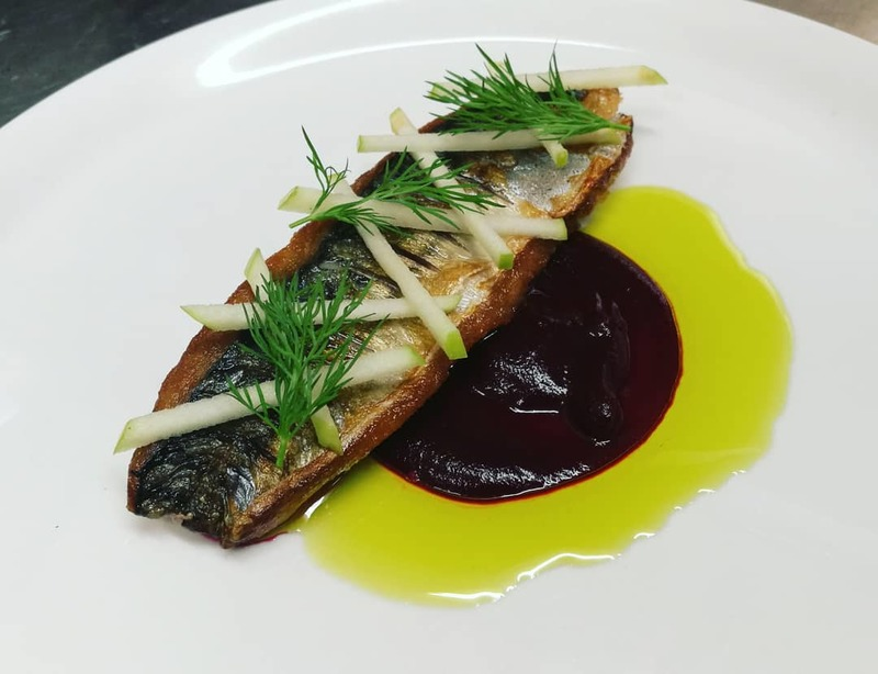 Peterhead Mackerel Fillet, Grewar's Beetroot, Apple, Dill