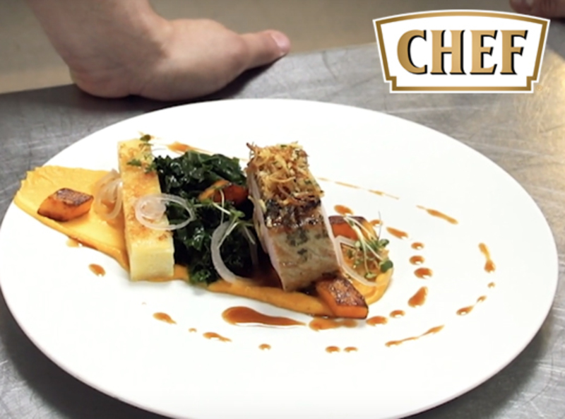 Pork Loin with Pommes Anna with Whole Grain Mustard Sauce recipe by Andras Katona