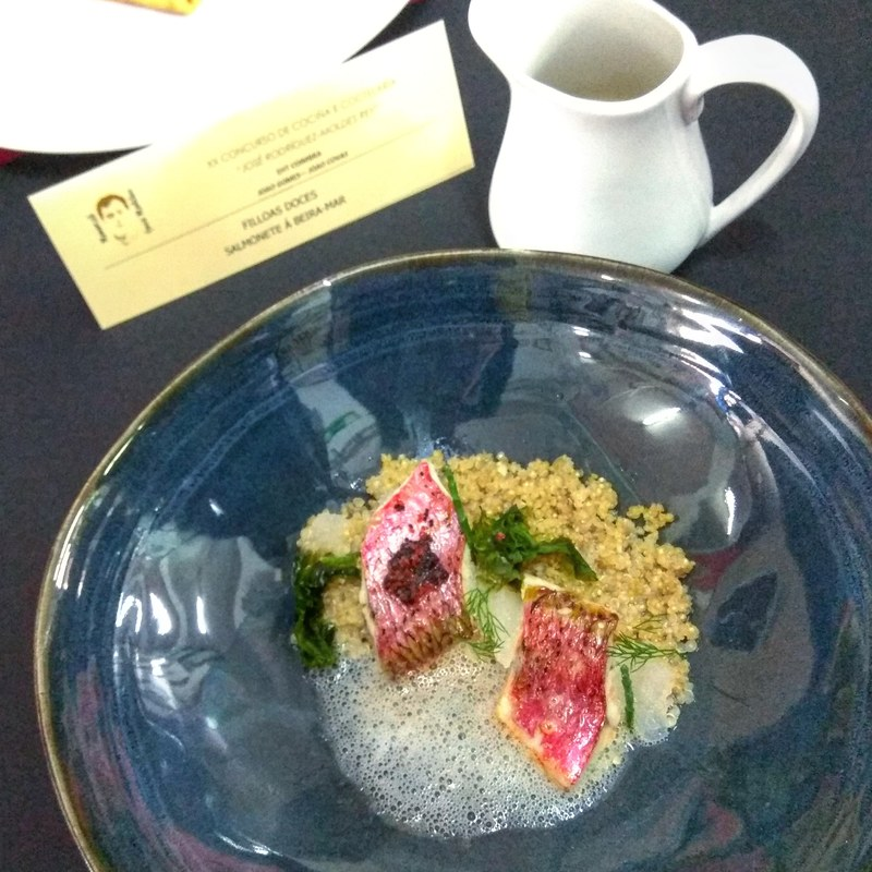 PORTUGUESE COAST . .RED MULLET, SEAWEED, QUINOA, LEMON GEL, FISH SEA AND FOAM