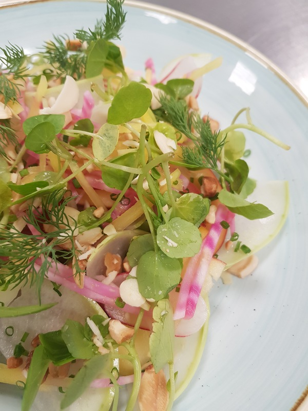 Pickled beetroot & watercress salad