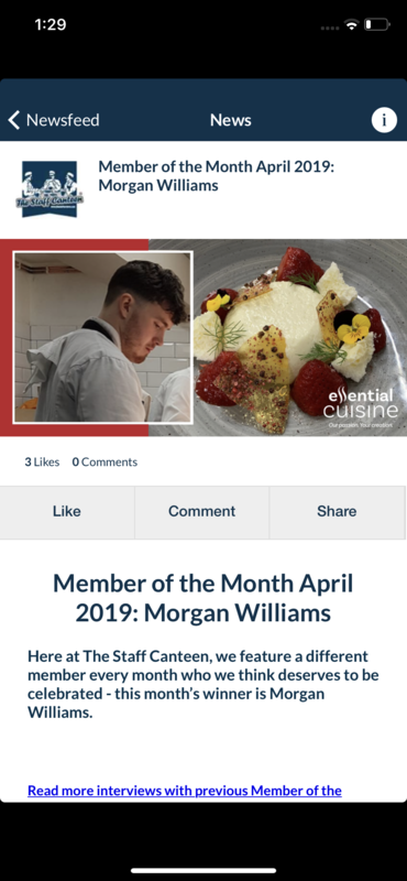 Buzzin to be staff canteens member of the month! Eveyone check out my story!