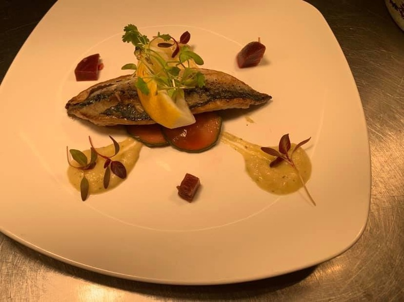 South Coast Mackerel, pickles, fennel and thyme purée