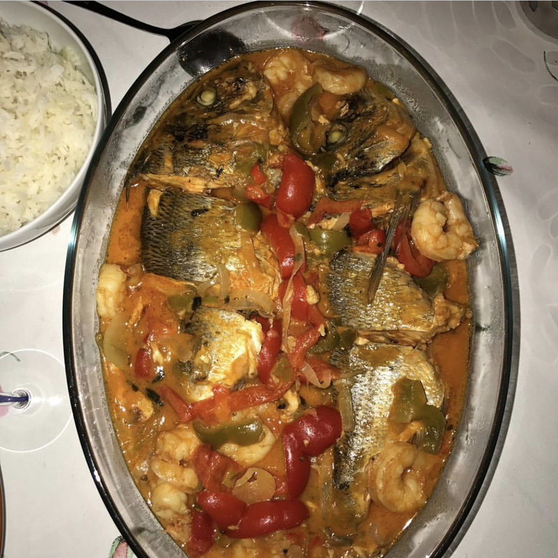 stew sea bass
