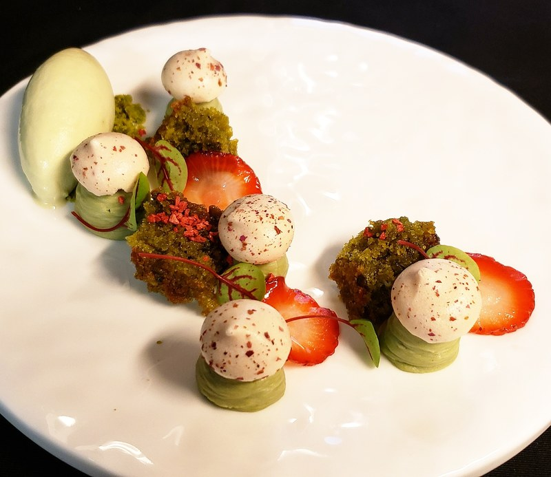 Strawberry, pistachio, rose
