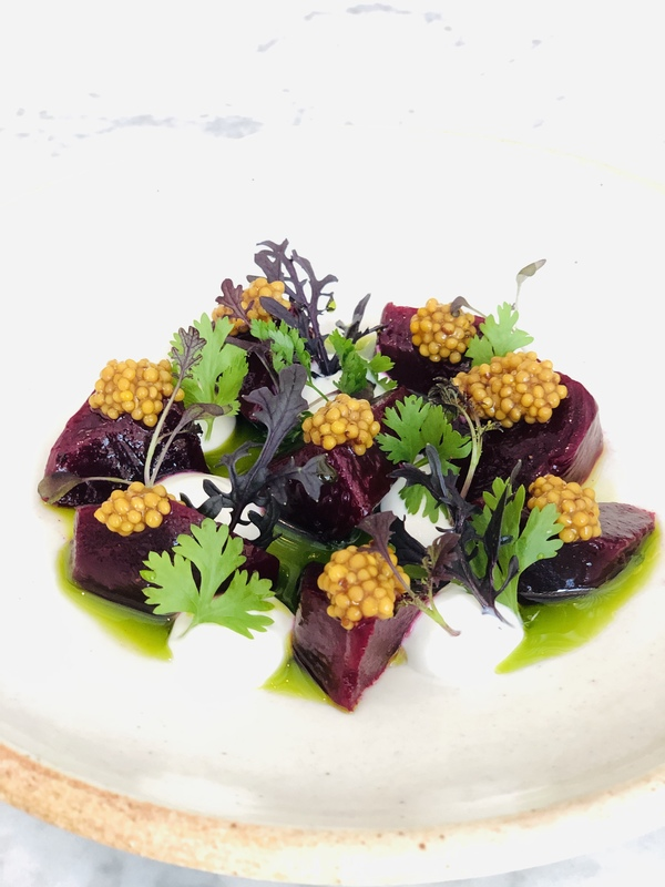 Smoked beetroot salad: