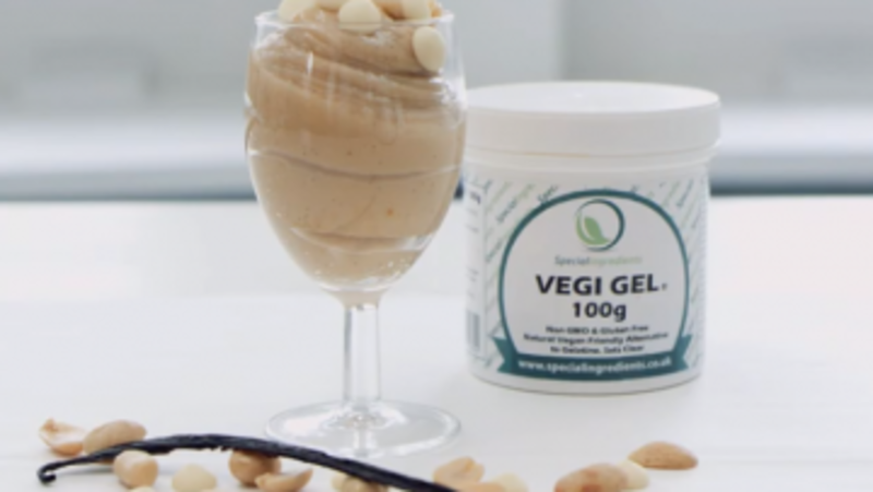 Peanut Butter Panna Cotta Using Special Ingredients Vegi Gel®