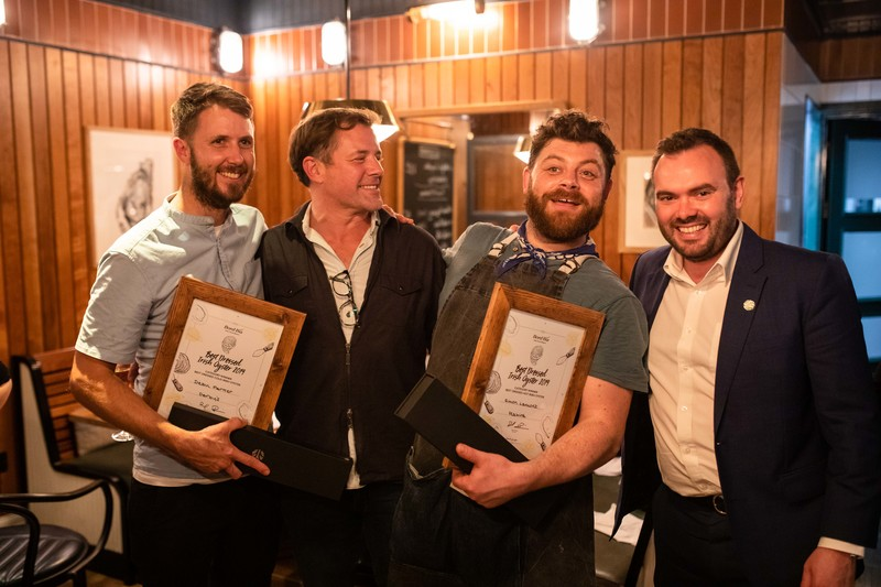 Simon Lamont of Seabird and Dean Parker of Darby's named winners of UK's Best Dressed Irish Oyster Competition 2019