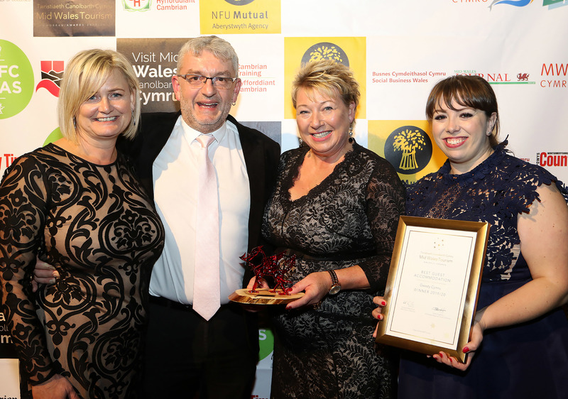 Five star restaurant with rooms triumphs at the Mid Wales Tourism Awards