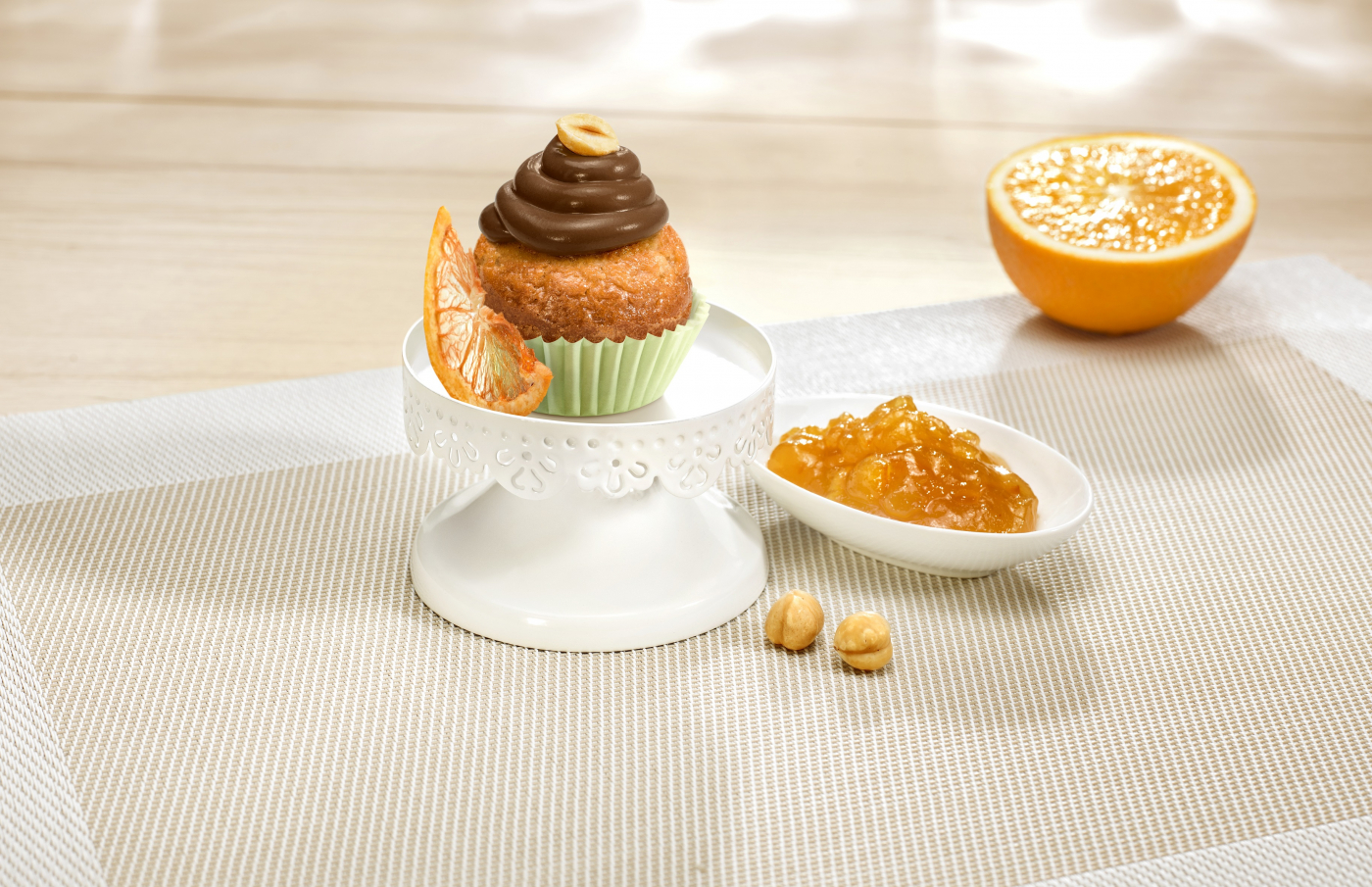 Citrus-fruits cupcake with nutella®