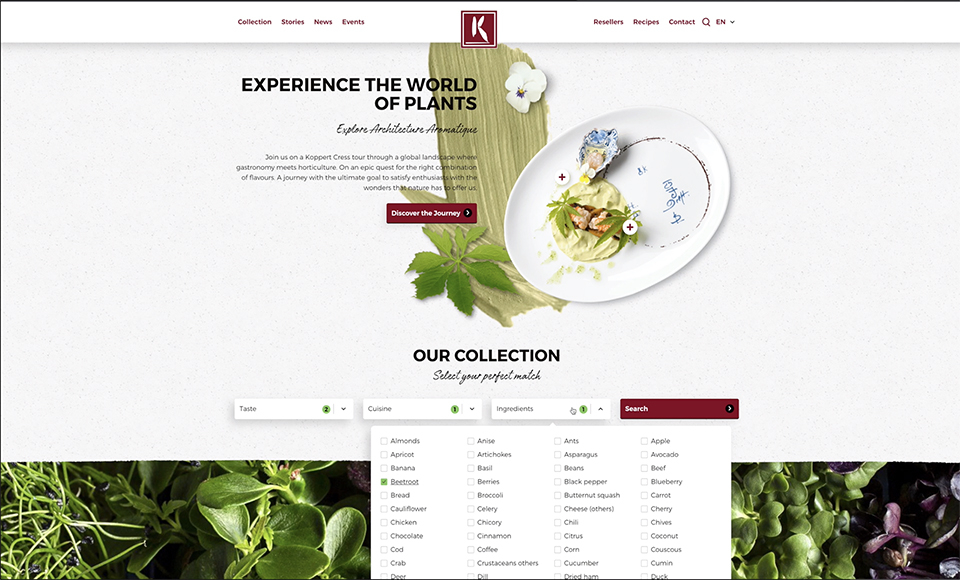 Koppert Cress launches new website with refined taste! - 1