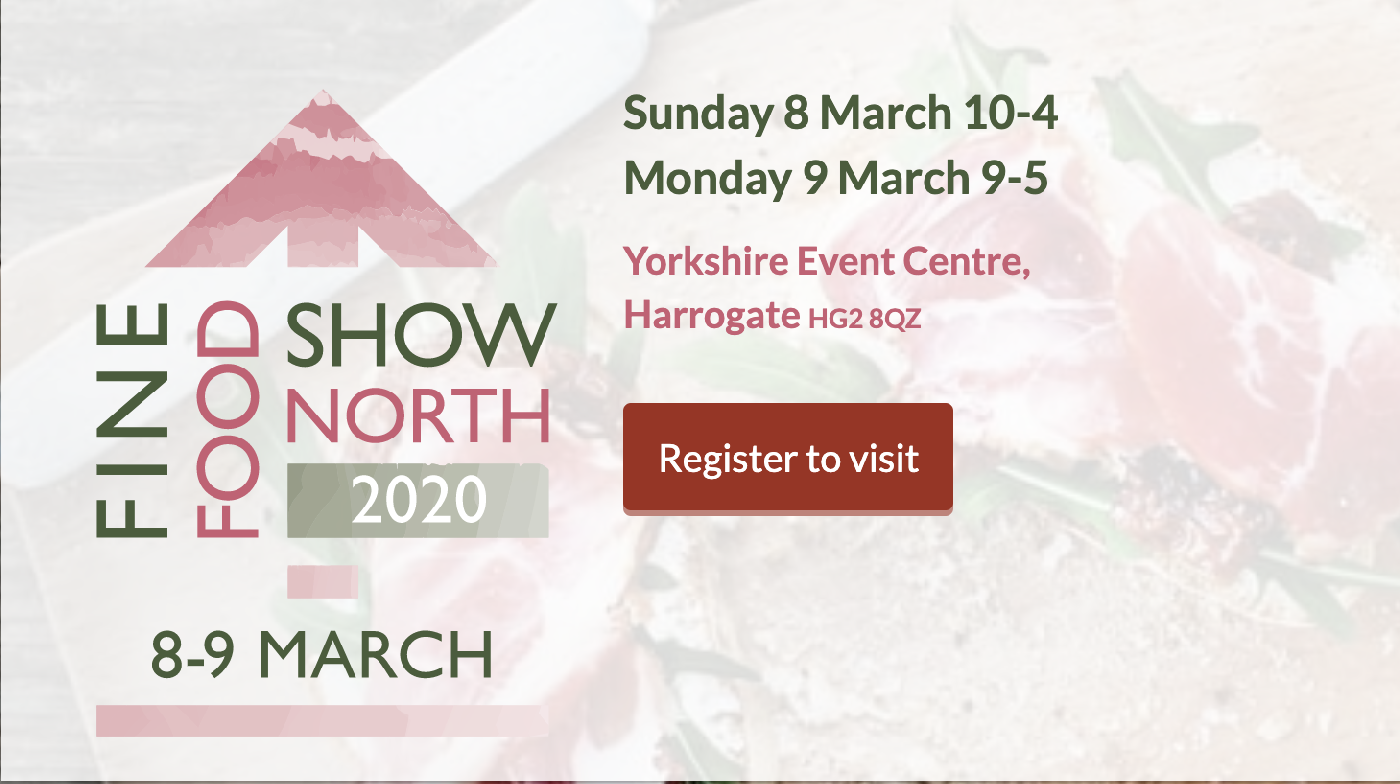 Not long now until this year's Fine Food Show North!  Discover innovative ingredients, fresh new lines and the latest food trends. Take away new ideas & business advice and meet the producers behind the food & drink you sell.