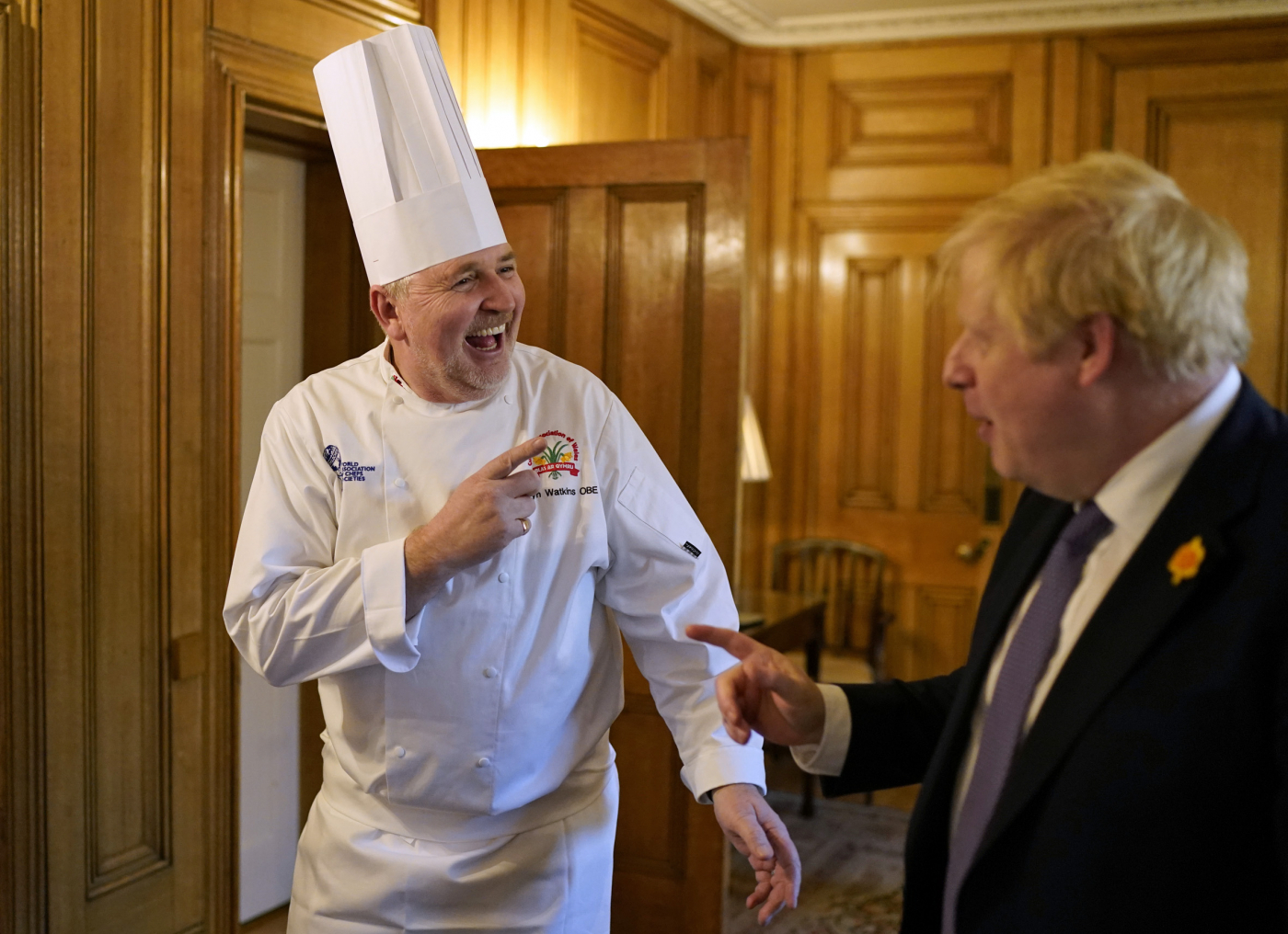 Chefs serve up a treat for Prime Minister Boris at Wales Week in London - 1