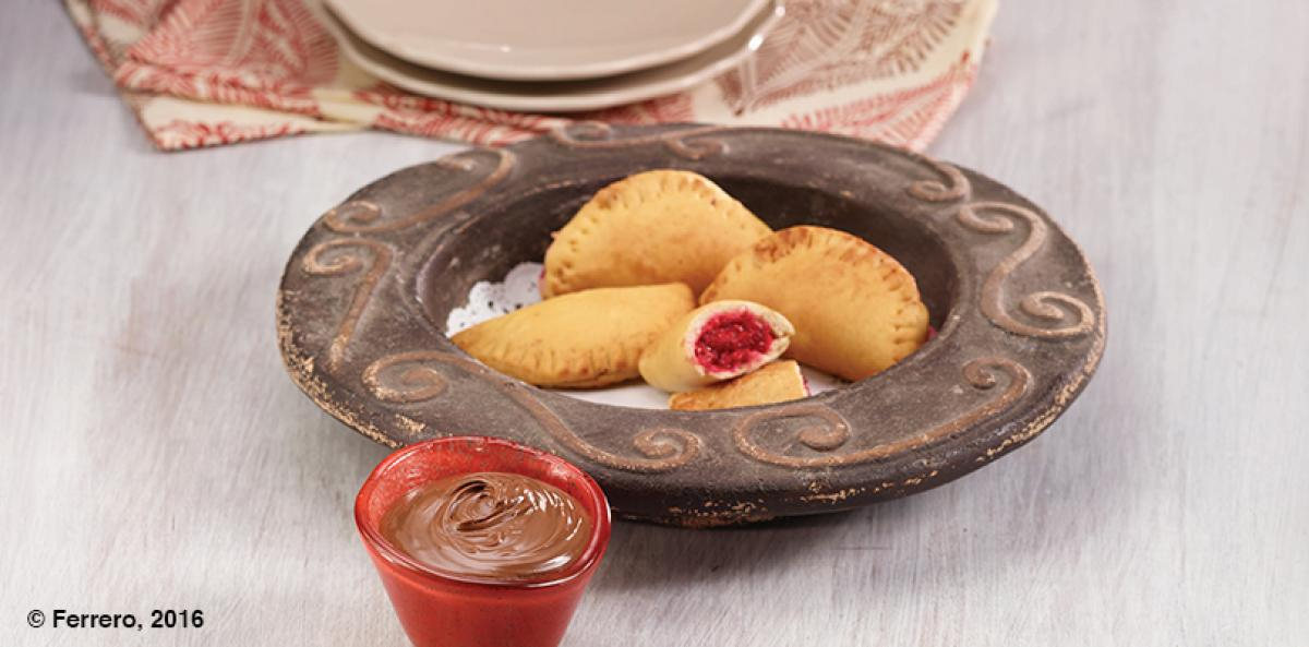 Raspberry Empanada with nutella