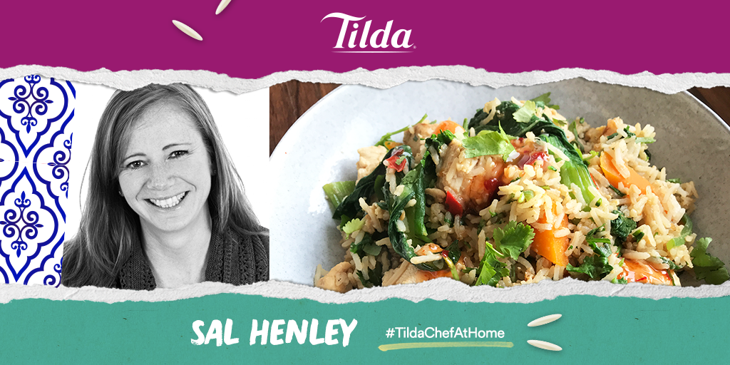 Sal Henley is supplying the #FridayFeeling with a delicious take on an Egg Fried Rice today. This yummy dish includes Tilda Pure Basmati Rice cooked #aldente making sure there is a little bite to it! #TildaChefAtHome #RecipeOfTheDay