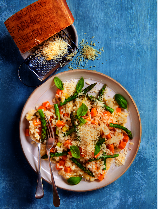 Parmigiano Reggiano, Butternut and Asparagus Risotto