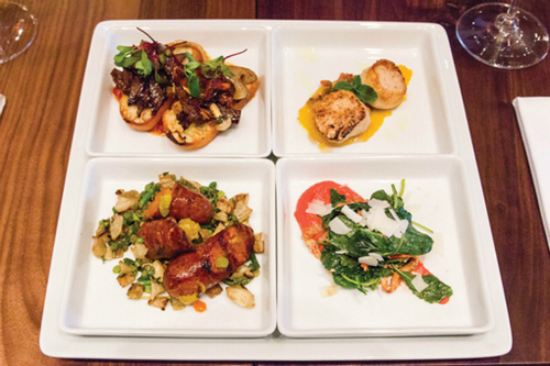 4Play- Off Menu tasters