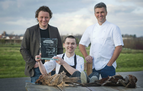 Martin Wishart and Tom Kitchin with Brian