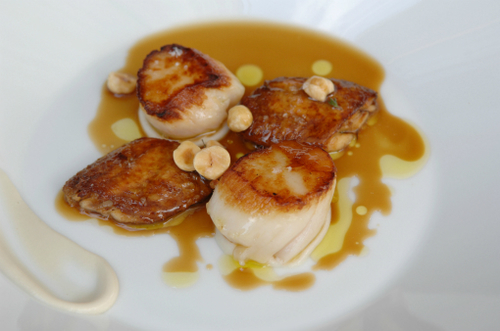 Scallops Chicken Wings And Hazelnut