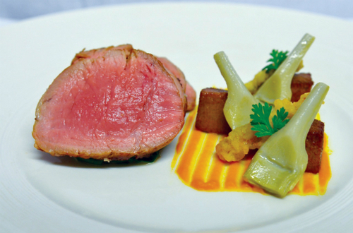Roasted Veal Fillet With Tongue Crispy Anchovies