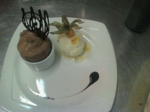 Chocolate Mousse And Oranage Zest Ice Cream