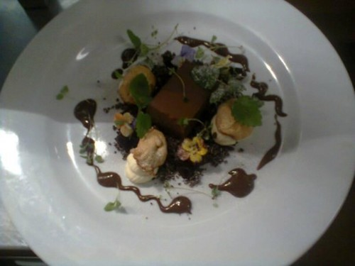 Chcolate Delice Chocolate Soil White Choclate Cream Liqorice Meringue Coffee Gel