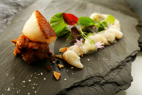 Scallops Crown At Whitebrook Sml