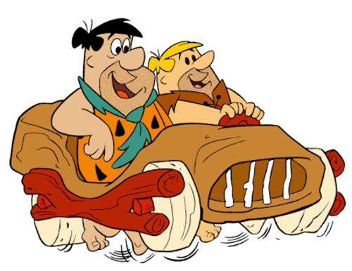 Fred Flintstone Barney Rubble Car