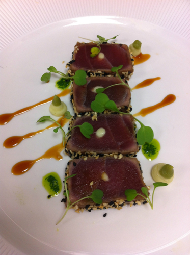 Sesame Seared Tuna With Chocolate And Wasabi