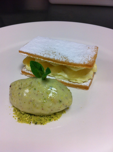 Pear White Chocolate Sable Pistachio Ice Cream