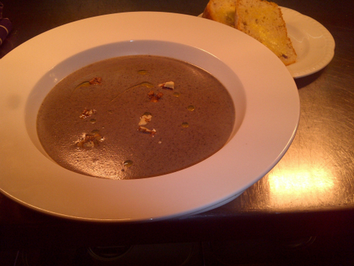 Mushroom Walnut & Cornish blue Soup