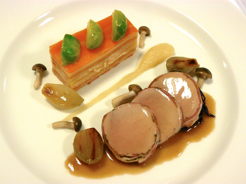 One of the finished dishes in the Major Series XII competition