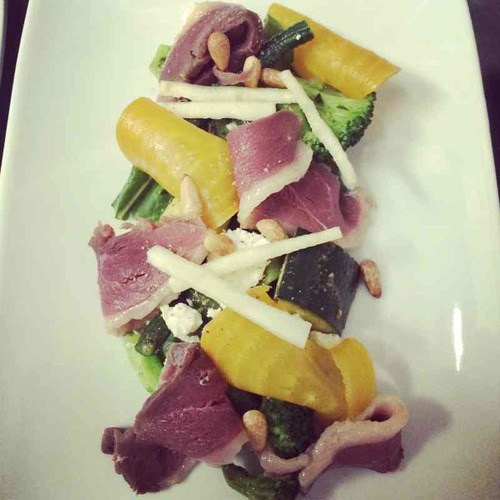 House cured duck breast | local vegetable salad | pesto dressing
