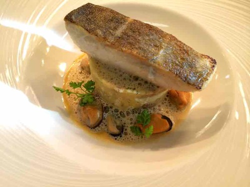 Cod, ratte, mussels & shellfish cappuccino