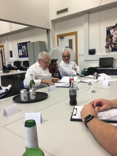 BCF busy judging the Conferece Centres of Excellence cook and serve.