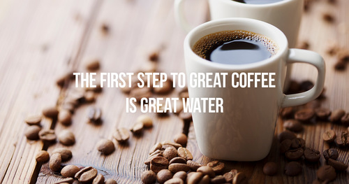 Don't let your coffee let you down. Filter your water.