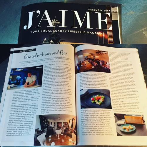 Nice mention in J'AIME mag for their December issue