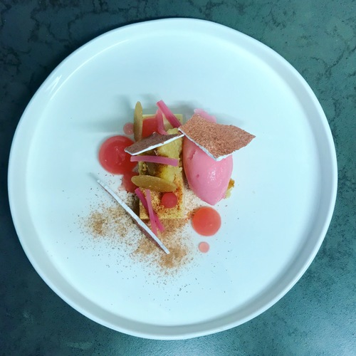 Yorkshire Rhubarb, Custard Jelly, Meringue.