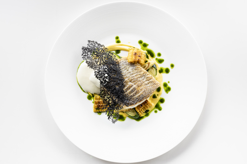 Bass/Corn/Potato/Squid ink