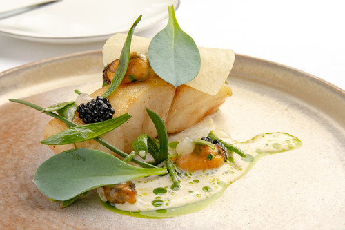 Turbot with sea vegetables