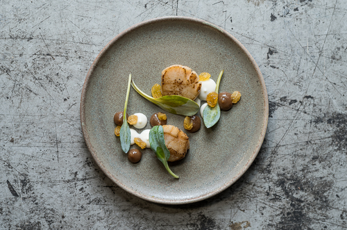 Isle of Mull Scallops, Jerusalem Artichoke and PX Sherry. Stunning combo