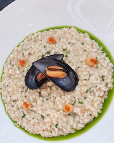Risotto mussels...