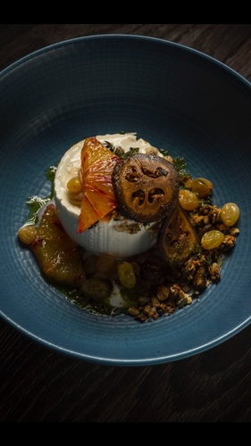 Burrata and granola