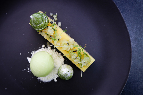 Yuzu tart, fennel sorbet & green tea meringue :green_heart: Just one of our incredible desserts #tastytuesdays #foodies #eventprofs #dessertoftheday #chefs #eventcatering