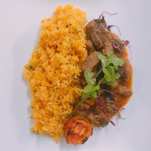 Lam Stew with Saffron Rice Pilaf